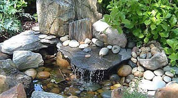 Put rocks around our garden pond?