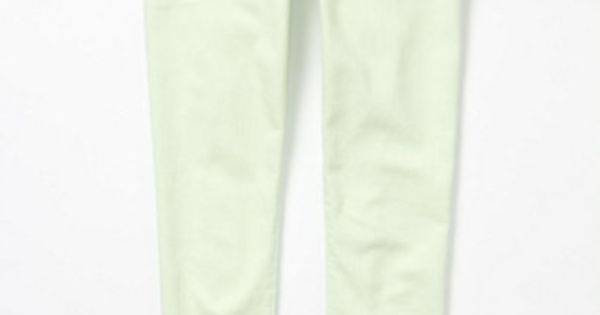mint green skinny jeans from anthropologie