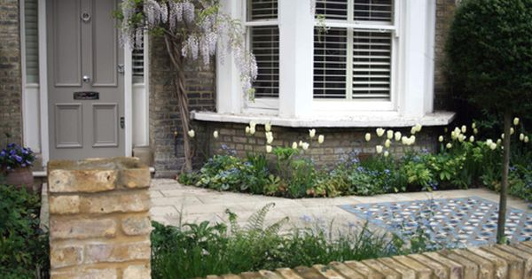 Front garden with mosaic Pinteres