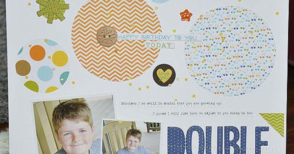 circles | scrapbooking - circle ideas | Pinterest | Birthday Boys ...