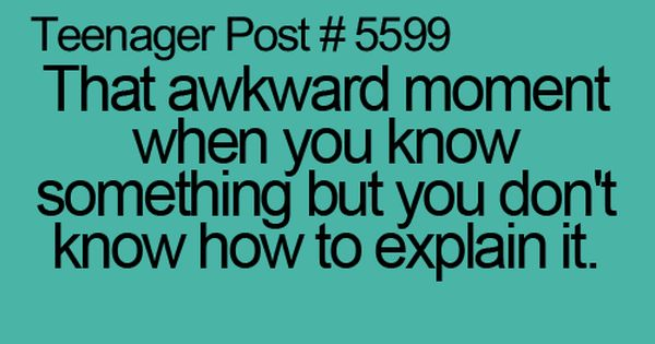 This happens to me every time a teacher calls on me in