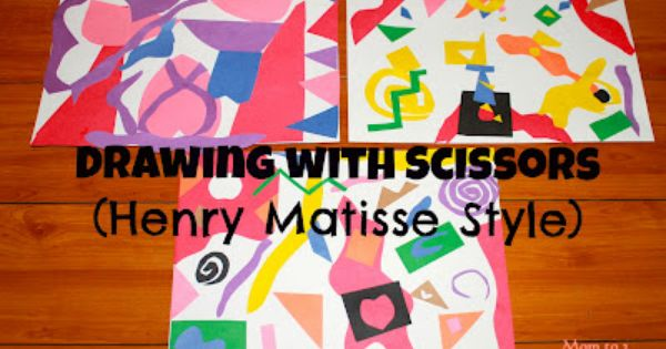 drawing with scissors like Henri Matisse - art, creativity and fine motor
