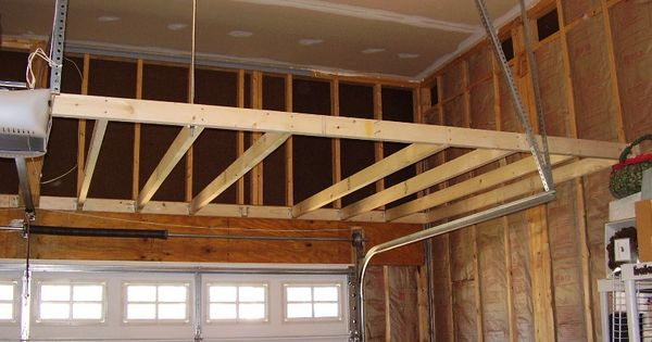 Garage storage loft how to support building for How much to build a garage with loft
