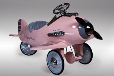 Pretty In Pink Pedal Airplane By American Retro Pretty In Pink
