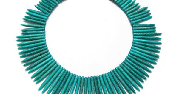 Turquoise Spike Necklace!! OMG!! want it soo bad!