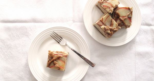 Cheesecake squares, Raw almond butter and Caramel apple cheesecake on ...