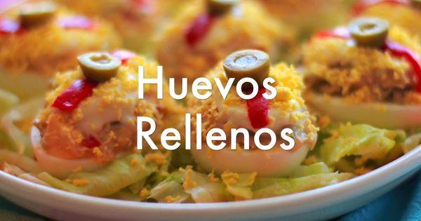 Huevos rellenos - Recetas de cocina fácil | Recetas ...