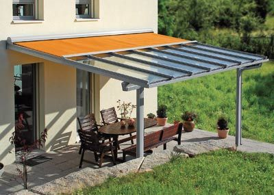 Glasdach Mit Integrierter Markise Versus Regen Und Sonne Glasdach Terrasse Glasdach Terrassenuberdachung