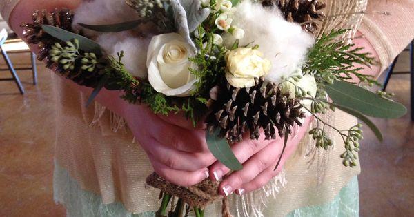 Winter wedding bouquet designs by @Denise H. Graham