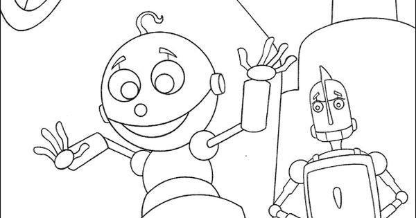 Disney Robots Coloring Pages : Robot robots color page disney coloring pages