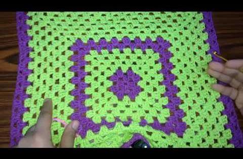 كروشيه مفرش مربع جرانى للمبتدئين Youtube Crochet Blanket Blanket Crochet