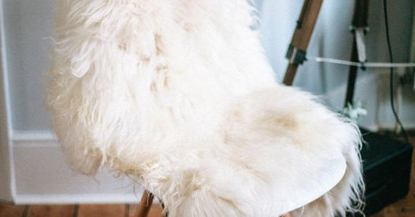 Super Soft White Sheepskin Rug | It is, Chairs and The back
