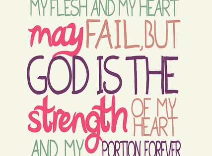 God is the strength of my heart! >click the link... God love