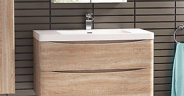 800mm Wall Hung Oak Bathroom Vanity Unit Basin Oak Bathroom Vanity Bathroom Units Bathroom Vanity Units