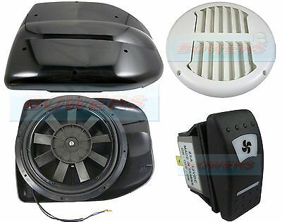 Details About 12v Low Profile Powered Motorised Roof Fan Air Vent Extractor Motorhome Dog Van Roof Air Vent Air Vent Motorhome
