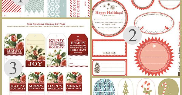 Ultimate Collection of Free Printable Christmas Gift Tags