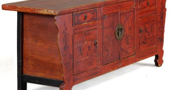 Low Furniture Was Common Particularly In Northern Parts Of China Where It Would Be Used On The Raised Kang Antique Chinese Cabinet Chinese Cabinet Cabinet