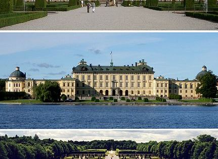 Drottningholm Palace, Stockholm, Sweden - private residence of the Swedish royal family,