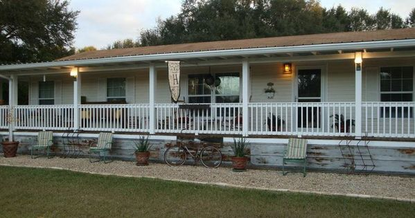 9 beautiful manufactured home porch ideas exterior for Double wide porch ideas