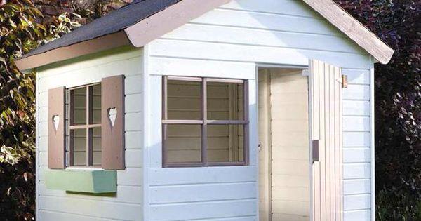 Jardipolys janaka maisonette cabane enfant bois bleu blanc for Jeu scout exterieur