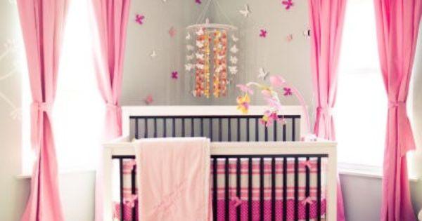 Baby girl nursery, pink nursery