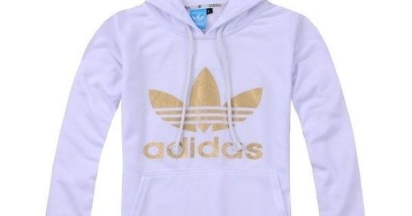 adidas hoodie white gold via Luxury store. Click on the ...