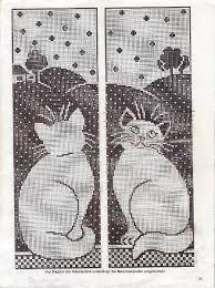 chat crochet rideaux crochet