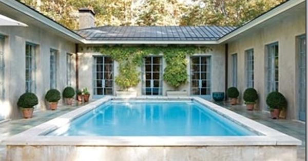 Like this but not necessarily with a pool in center u for House with courtyard in center
