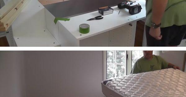 un lit sur une estrade avec de nombreux rangements int gr s voil un tutoriel faire soi m me. Black Bedroom Furniture Sets. Home Design Ideas