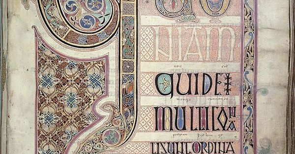 Lindisfarne Gospels: St. Luke incipit page. Early medieval ...