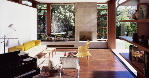 Waldfogel residence by ehrlich architects sala de estar - Limposante residence contemporaine de ehrlich architects ...