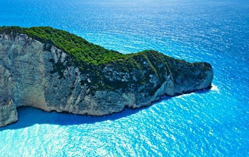 Amazing Blue Waters of Navagio Bay, Greece