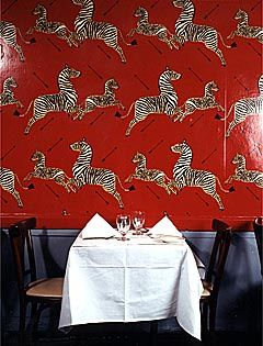 Iconic Scalamandre Wallpaper At Gino S On Lex Near 59th