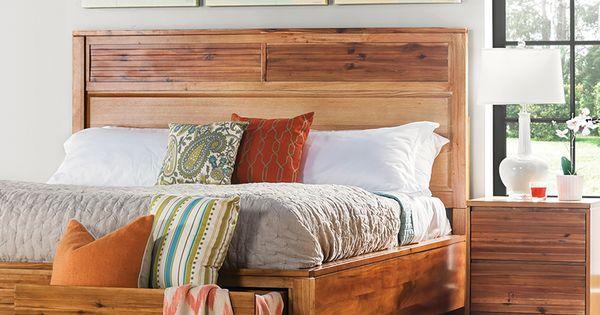 Sienna queen storage bed burnt orange room set and living room sets