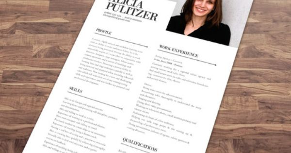 Resume Template No1 + Cover Letter + Reference Page + Business