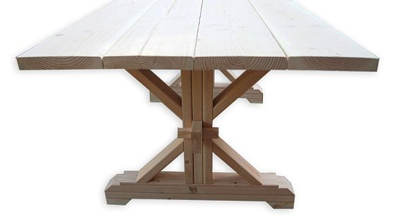 Farmhouse Trestle Table Diy Kit By Lakeshorehnh On Etsy