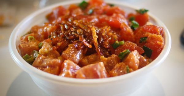 Ahi poke, Poke recipe and Spicy on Pinterest
