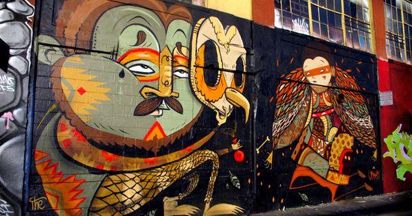 Pin de iter intergalactic en arte urbano intervenci n for Graffitis y murales callejeros