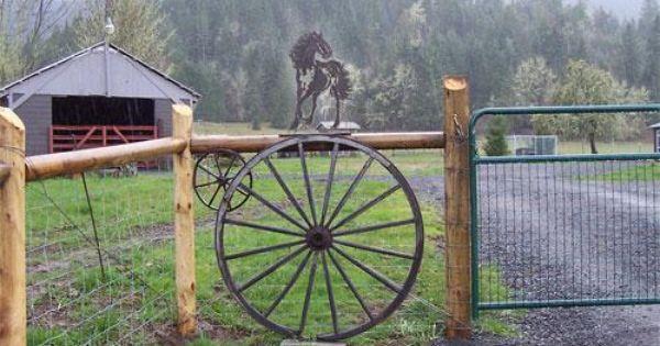 Awesome Wagon Wheel Fence DIY ideas Pinterest