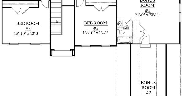 House plan 2995 c springdale c second floor plan for House plans with downstairs master bedroom