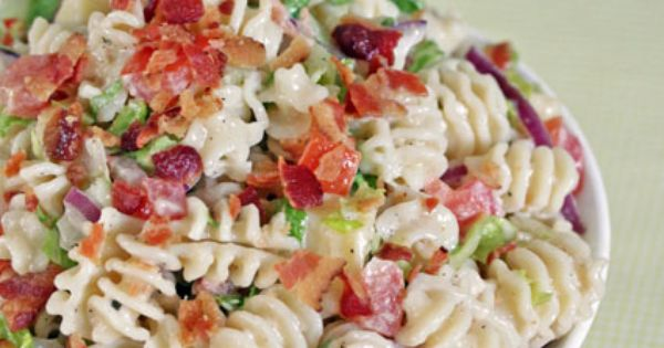 Ranch BLT Pasta Salad. Yummy