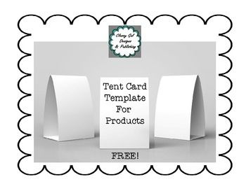 Free Tent Card Template Tent Cards Card Template Card Templates Free