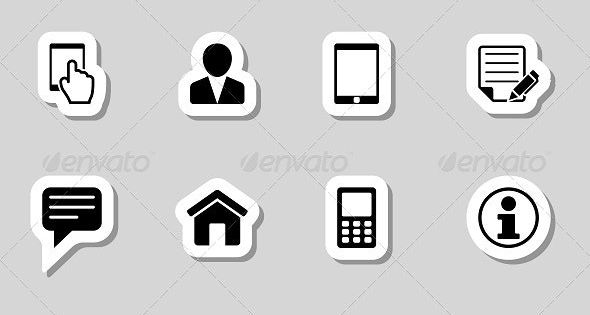 Contact Icons Set As Labels Icon Set Icon Address Icon