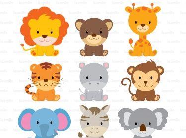 Cute Wild Animals Digital Clipart Meylah Cute Wild Animals Animal Clipart Animals Wild