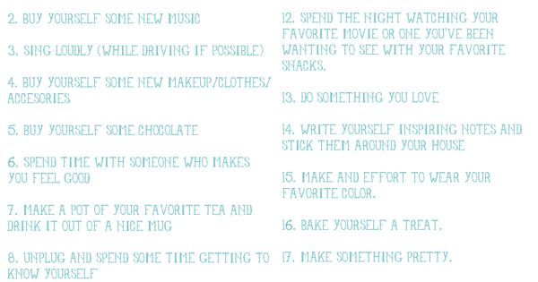 20 things to do when you're in a funk. I want this