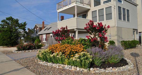 moderne-gartengestaltung-steinen-vorgarten-idee-kies-blumen-beete, Gartenarbeit ideen