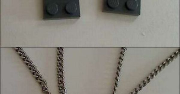 Adorable BFF necklace idea :)