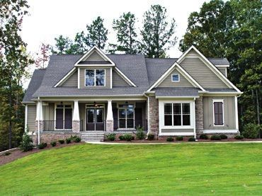 French Country Style House Plan 51955 With 4 Bed 3 Bath Country Style House Plans Brick House Plans Craftsman House Plans