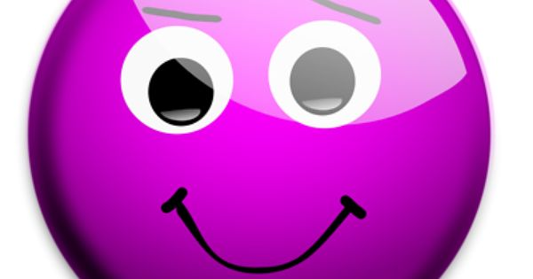 Illustration Of A Purple Smiley Face With A Transparent Background