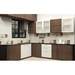 A Modular Kitchen With Dual Color Combination Made Up Of Plywood With Laminate Finish The Kitchen Cupboard Designs Kitchen Furniture Design Kitchen Modular